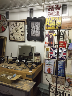 Clocks, Mirrors, Signs, Coatstands