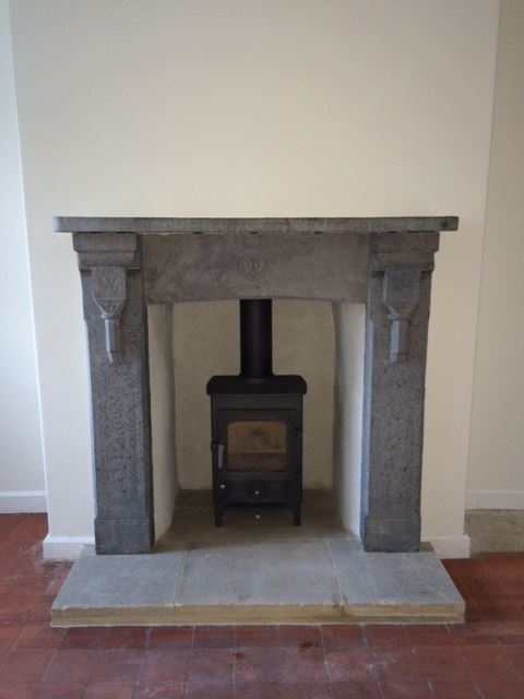 Blue Lias fireplace in Street