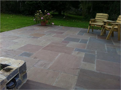 Autumn Blend Sandstone Patio