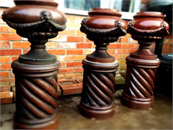 Victorian Glazed Clay Urns Pots