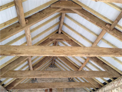 Oak Beams in situ Barn Conversion