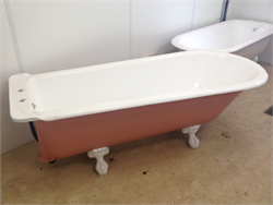 Reclaimed, Refurbished Victorian Cast iron Bath