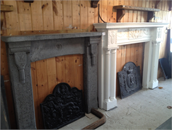 Decorative Stone Fire Surround Painted Pine Surround