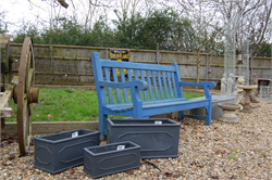 Garden Benches, Planters, Cart-wheel