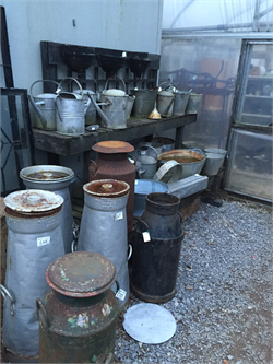 Churns, Planters, Garden-ware, Watering cans